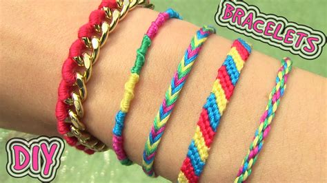 How To Make Handmade Bracelets With Threads - diy friendship bracelets 5 easy diy bracelet projects