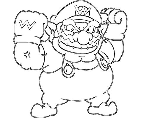 wario coloring pages coloring home