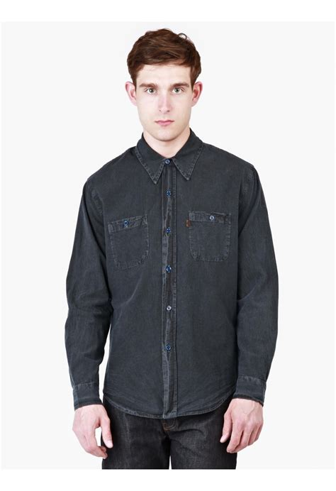 levi s s dyed 1960 chambray shirt in blue for