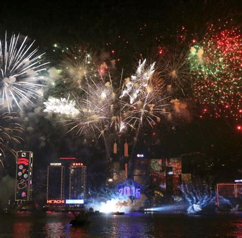 new year cards hong kong happy new year how the world celebrated the start of 2015