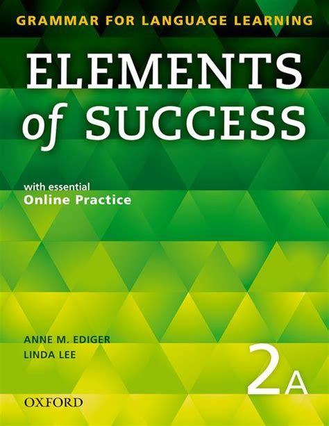 elements of grammar books elements of success grammar for language learning