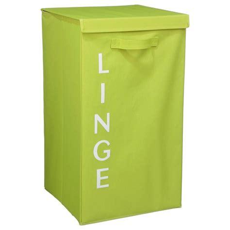 panier 224 linge quot 201 criture quot 63cm vert