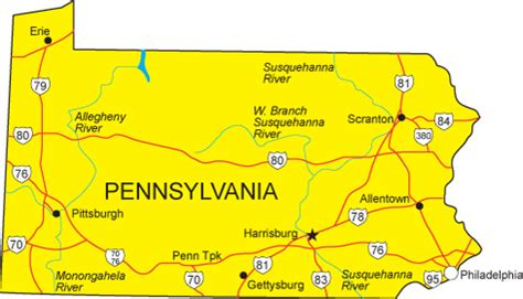 Finder Pa Pa Map Pennsylvania State Map