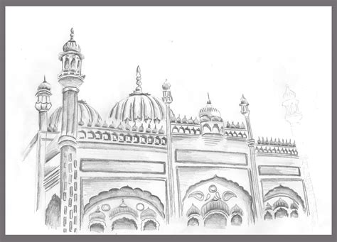 Mosque Drawing by Masjid Pencil Sketch Images