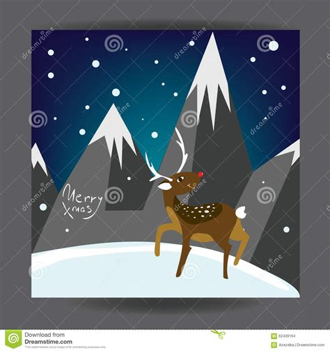 merry christmas l post merry christmas holiday post card design with deer and