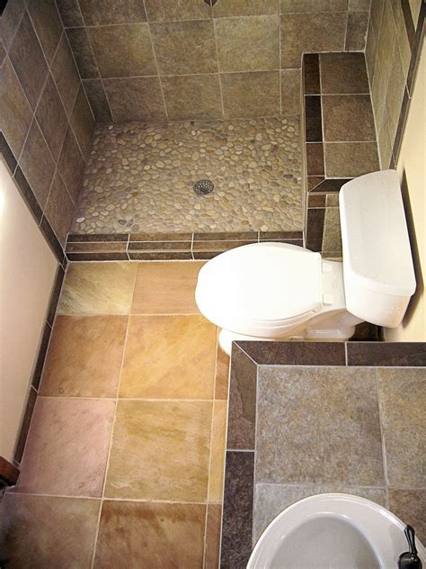 pebbles in bathroom pebble shower floor bathroom transitional with double