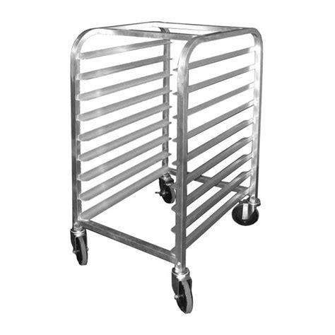 all welded aluminum half size bun pan rack 9 pan capacity