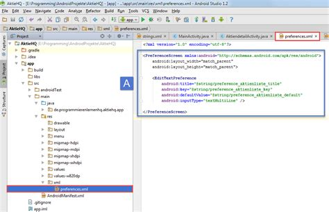 android studio edittext tutorial android tutorial settings und preferences in android