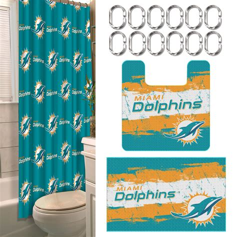 Miami Dolphins Bathroom Accessories Nfl Miami Dolphins Bathroom Set