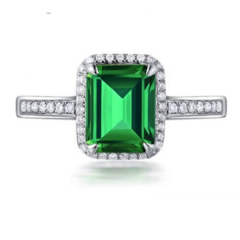 1 50 carat princess cut emerald and halo