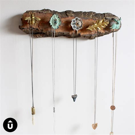 diy necklace holder upcycle that
