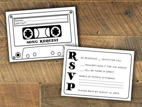 song request card template 13 unexpectedly amazing 2016 wedding ideas