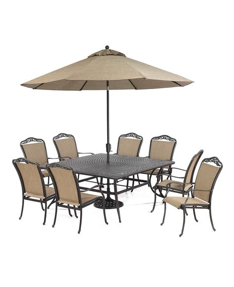 Beachmont Outdoor 9 Piece Set 64 Quot Square Dining Table And Beachmont Outdoor Patio Furniture