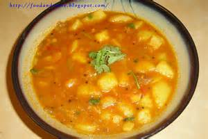 food and taste potato curry indian recipe