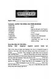 Beetlejuice Movie Worksheet