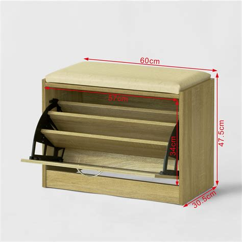 shoe storage bench with padded seat sobuy shoe storage bench shoe cabinet with padded seat