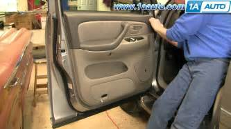how to install replace remove door panel toyota sequoia 01