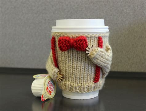 knitting pattern cup holder dr who coffee cozy office decor starbucks cup holder