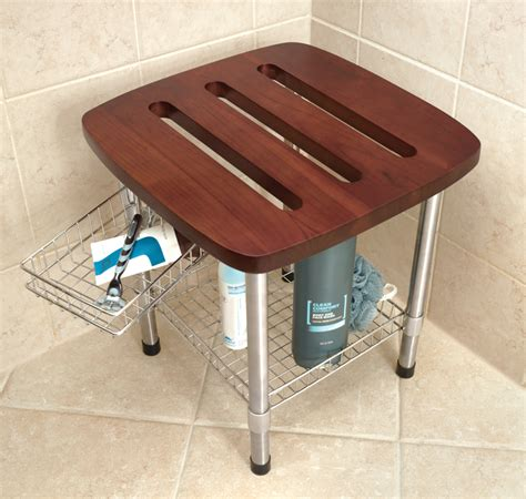 shower stools and benches hammacher schlemmer recalls teak shower stools due to fall