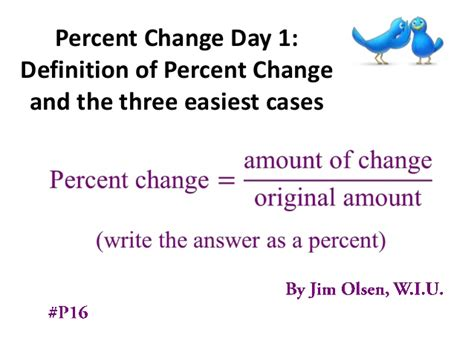 days definition percent change day 1 definition of percent change