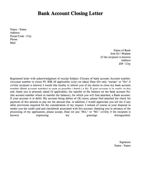 Closing Letter To Account Closing Letter Template Letter Template 2017
