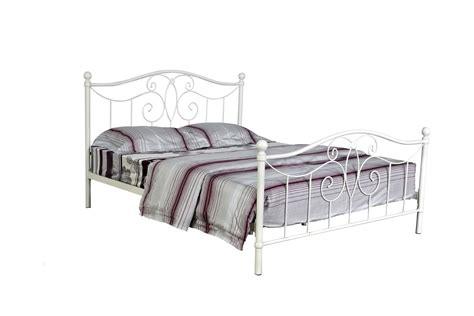 White Metal Frame Beds Home Decorating Pictures White Metal Framed Bed