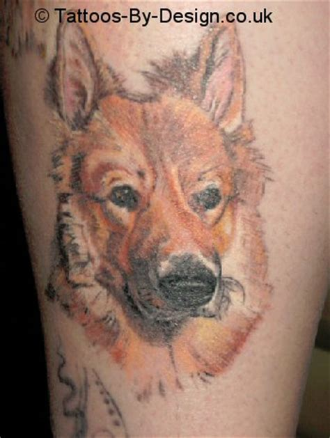 german shepherd tattoo designs haired german shepherd
