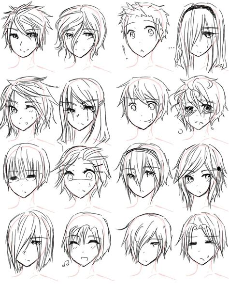 anime hairstyles ideas 42 best anime hair styles images on pinterest drawing