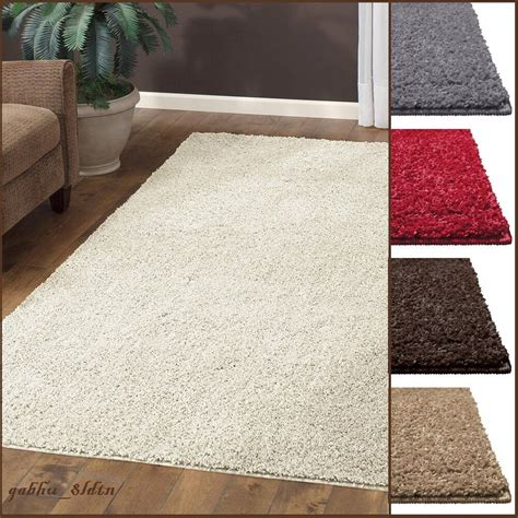 shaggy rugs for room new shag area rug thick and soft home big plush carpet living room large 7 x10 ebay