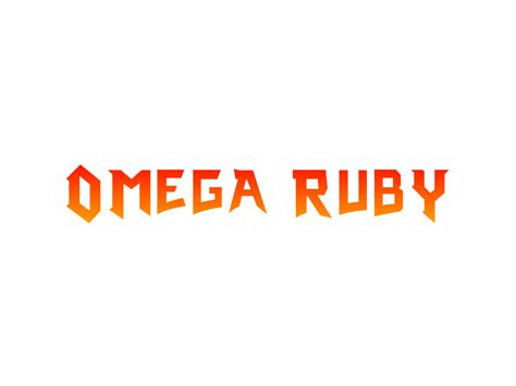 omega ruby omega ruby custom logo by phoenixoflight92 on deviantart