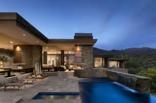 Home Design Story Pool Modern Home With Mountain Views In Scottsdale Arizona
