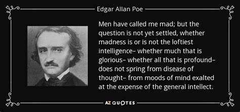 edgar allan poe biography questions edgar allan poe quote men have called me mad but the