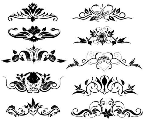 New Decorative Black Flower 5m free flourish ornaments illustrator fichier vectoriel
