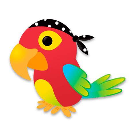 Wall Sticker Birds pirate parrot
