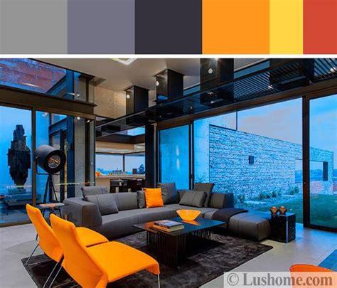 grey yellow orange living room 5 beautiful orange color schemes to spice up your interior design
