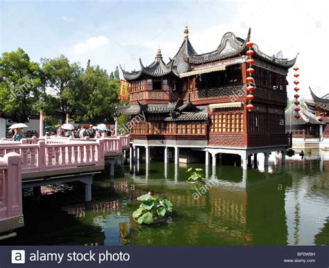 china tea house china shanghai yuyuan gardens and huxinting tea house stock photo royalty free