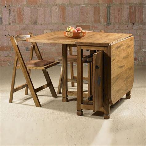 cordoba drop leaf dining table  folding chairs  seat