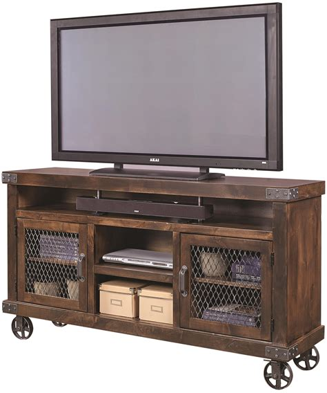 aspenhome industrial dn1065 tob 65 quot console with metal