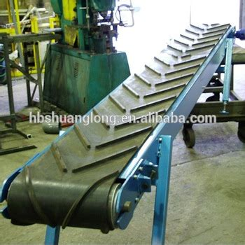 Chevron Incline by Chevron Cleated Incline Material Conveyor Belt To Reduce