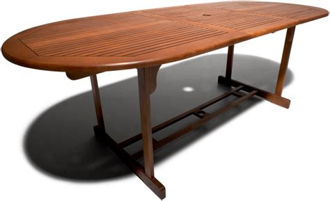 Expandable Patio Table Strathwood Sheffield Hardwood Oval Expandable Table