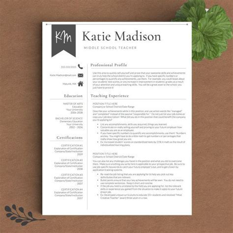 Resume For Teachers by Best 25 Resume Template Ideas On