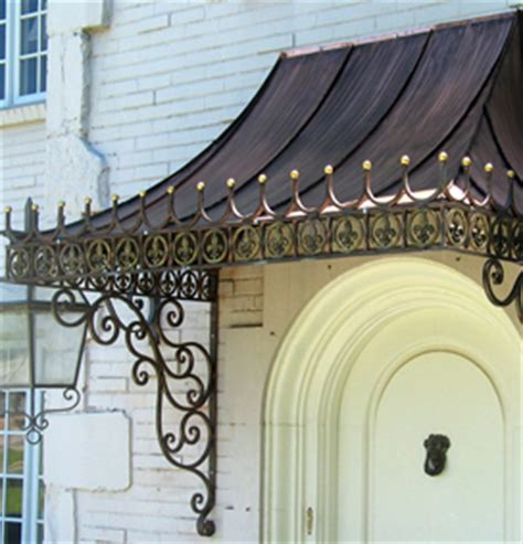 decorative metal awnings potter art metal studios custom lighting and ornamental