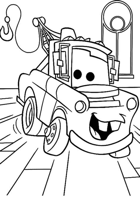 funny disney cars coloring pages