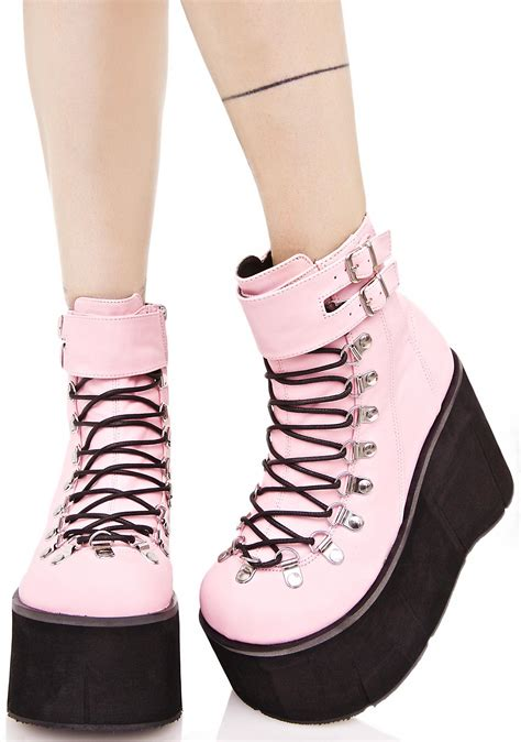 Lace Up Platform Boots demonia sweetie kera lace up platform boots dolls kill