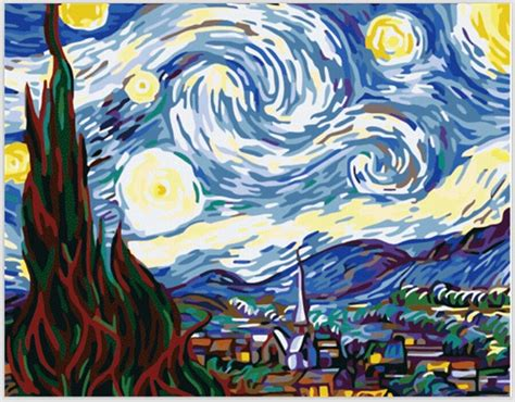 Van Gogh famous abstract paintings Starry Night Painting ... Famous Acrylic Painting