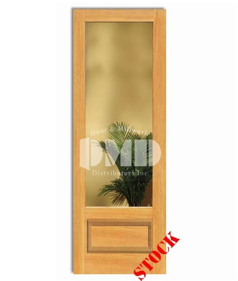 1 Lite French Clear Glass Bottom Panel 3 4 Pine 8 0 96 8 Panel Glass Interior Door