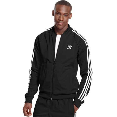 Jaket Adidad 03 Black adidas originals superstar track jacket in black for black white lyst
