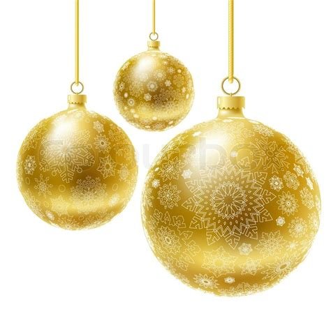 golden realistic vector christmas balls set stock