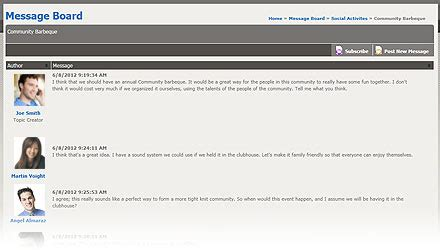 Has Posted A Message On Websit by Message Board Website Feature Message Forum Where