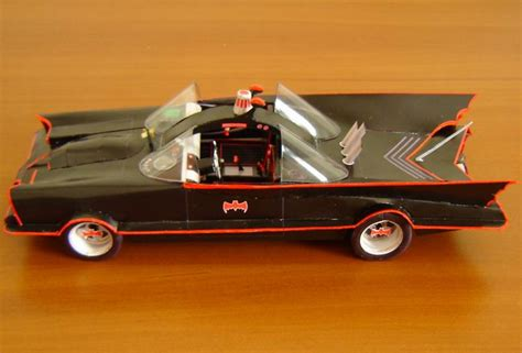 Batmobile Papercraft - build your own papercraft 1 24 batmobile 1966 ver